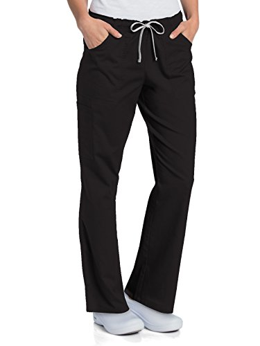 - Landau All Day 2035 Women's Full Elastic Cargo Pant Black LT