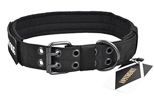 JADEDRAGON Tactical Dog Collar Military Adjustable Training Dog Collar with Metal D Ring & Buckle 3 Size£¨Black XL - Training D-ring Collar