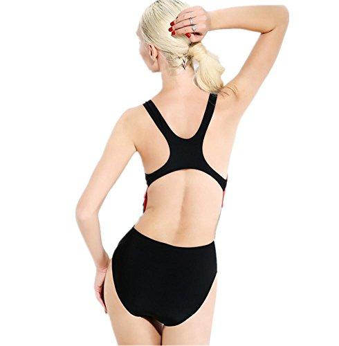 ZOYOL-YT Traje de baño de bikini de una sola pieza Trajes de baño de deporte femenino de auto-cultivo as shown in color