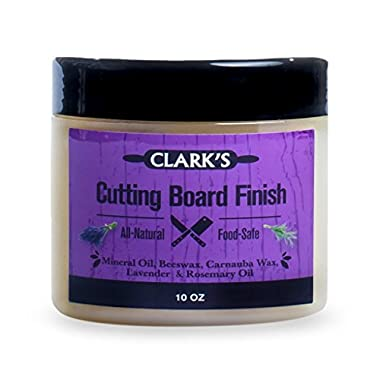 CLARK'S Cutting Board Wax (10oz) | Enriched with Lavender & Rosemary Oils |Made with Natural Beeswax and Carnauba Wax |Butcher Block Wax