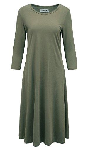 midi 3/4 sleeve dress - 3