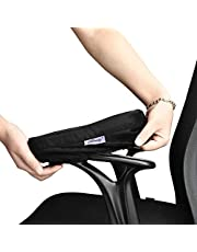 Aloudy Ergonomic Memory Foam Office Chair Armrest Pads, Comfy Gaming Chair Arm Rest Covers for Elbows and Forearms Pressure Relief(Set of 2) …