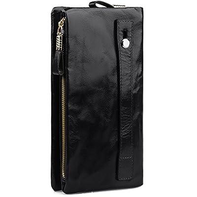 Jack&Chris Women Leather Clutch Wristlet Bag Handbag Purse Wallet, WBGT032