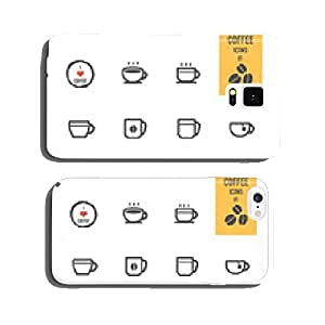 Coffee icons set. Vector illustration. cell phone cover case Samsung S5