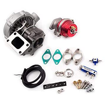 maXpeedingrods Universal GT45 Turbo Turbocharger T4/T66 V-Band 4-bot 1.05 A/R 77 Trim 600+ BHP for 3.0L-6.0L Engine