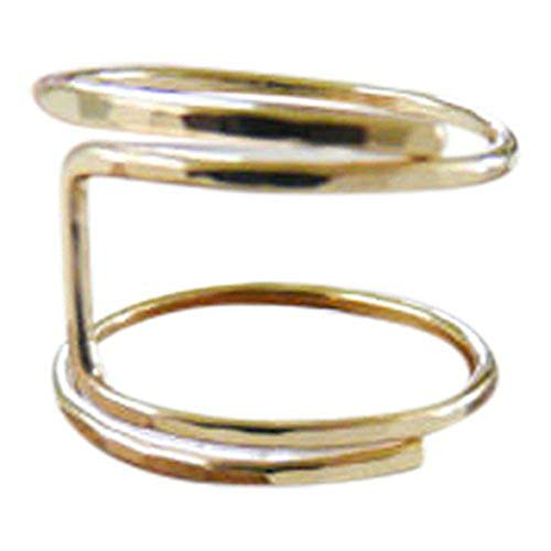 Gold U Shape Swirl Wire Wrap Adjustable Thumb Ring One Size Fits All Most