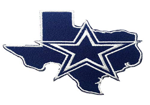 Dallas Cowboy NFL Sport Logo Embroidery Patch Iron and Sewing on Clothes Size 3.15