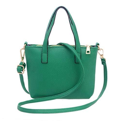 Ladies Tote Purse Purse VPASS Green Woman Leather Fashion Shoulder Satchel Bag Women Classic Handbag Shape V xBwFPxq7C