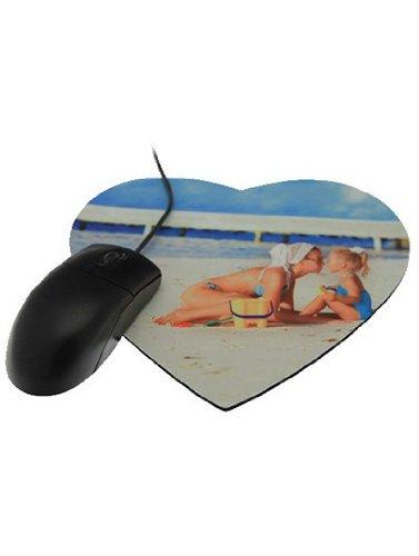 Mousepad mit individuellem Foto / Herzform und 3mm Dick / personalisiertes Herz Mauspad