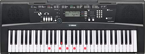 Yamaha EZ-220 Portable Keyboard with Lighted Keys (power adapter INCLUDED!) (Renewed)