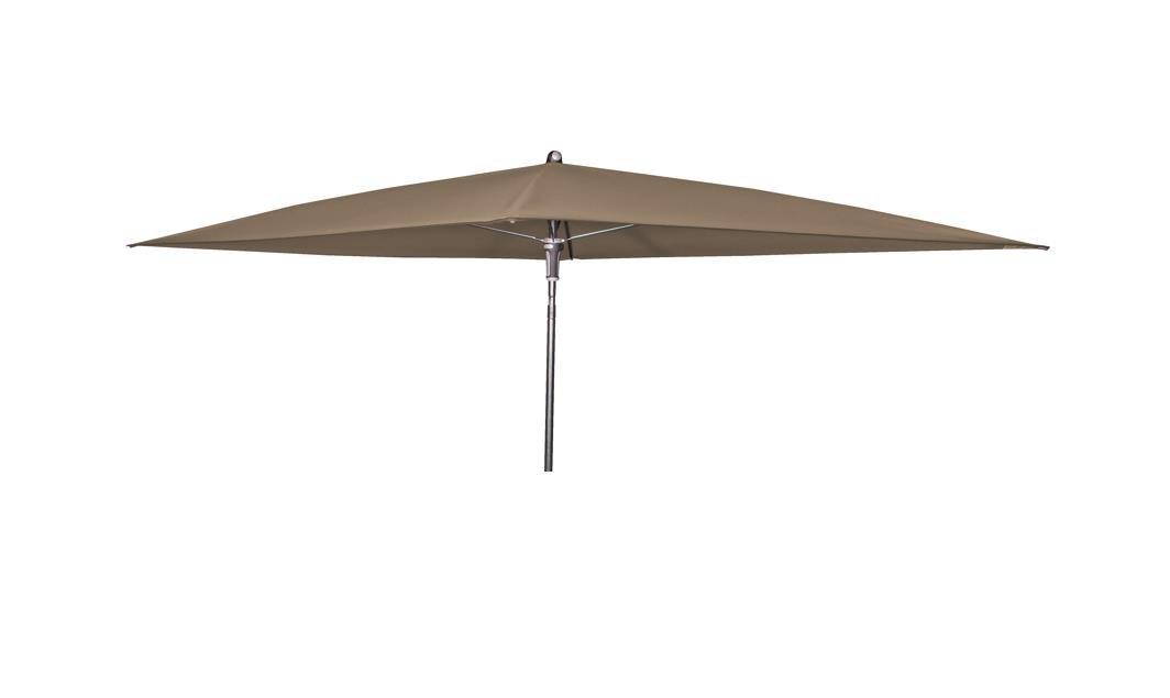 Doppler Absolut wasserdichter Gartenschirm Waterproof 230x190 ohne Volant, UV-Schutz 50 Plus, Farbe Taupe - Greige