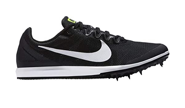 on sale 90a23 c663b Amazon.com  Nike Zoom Rival D 10 Distance Spikes Shoes Mens Size 11.5 (Black,  White)  Clothing
