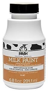 FolkArt Milk Paint in Assorted Colors (6.8 oz), 38908 Farmhouse Ochre
