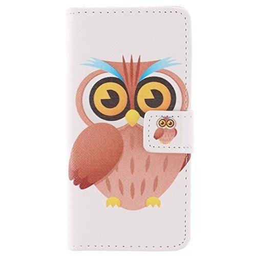 """MCHSHOP(TM) Vielzahl von Mustern Book Style Design Leder Tasche Flip Case Cover Schutzhülle Etui Hülle Schale Für iPhone 6 Plus 5.5"""" mit Kartensteckplätze Standfunktion - 1 Touch pen kostenlos (Gelb H"""