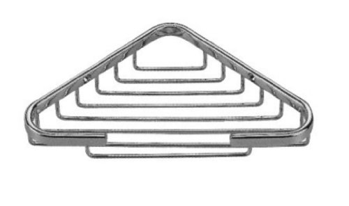 Taymor Hotel Small Chrome Corner Triangular Basket