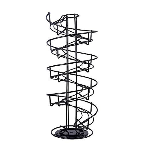 - Toplife Spiral Design Metal Egg Skelter Dispenser Rack,Storage Display Rack,Black