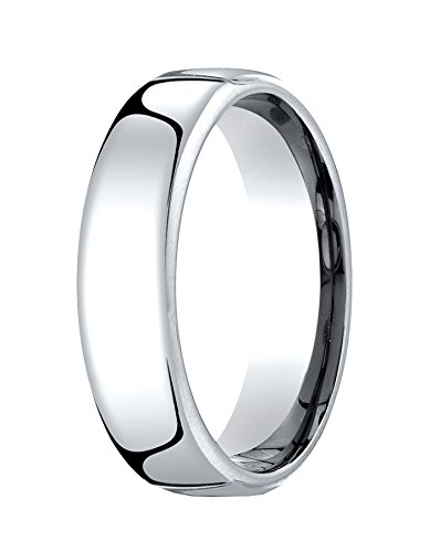 Palladium 6.5mm European Comfort-fit Ring Size 9.5 -