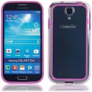 Frame Plastic Protective Case for Samsung S4/i9500 Transparent Purple