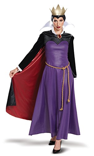 Disguise Women's Plus Size Evil Queen Deluxe Adult Costume, Purple XL (18-20)