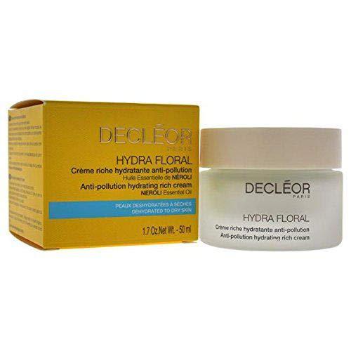 Decleor Hydra Floral Anti-Pollution Hydrating Rich Cream, 1.7 Ounce