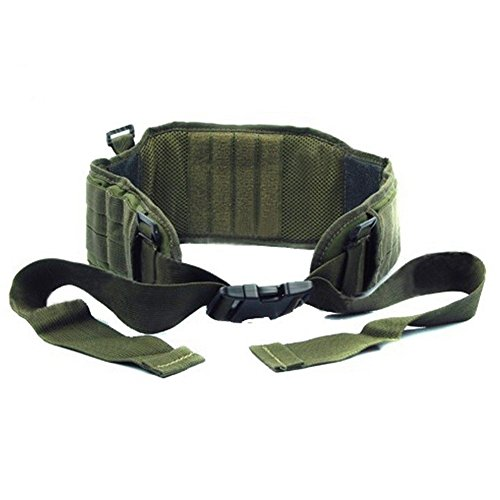 4 Colors Airsoft Tactical Padded 1000D Nylon Waist Belt Combat Army Battle Belt For Mens (green)