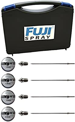 Fuji Air Cap Set 7020-2, 7020-4, 7020-5, 7020-6 for T-Series Spray Gun w/ 5137 Carrying Case Bundle