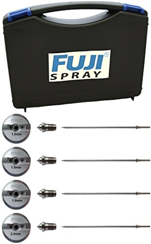Fuji Air Cap Set 7020-2, 7020-4, 7020-5, 7020-6 for T-Series Spray Gun w/ 5137 Carrying Case -