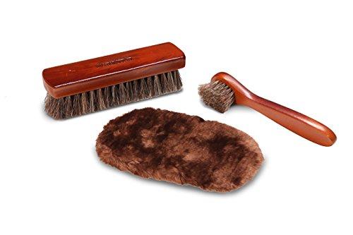 Shoe Shine Kit | Best Shoe Brush For Men's & Women's Shoes | With Horsehair Shining Brush, Polish Applicator & Bonus Shining Cloth | For Leather | Shoes, Purses & Bags
