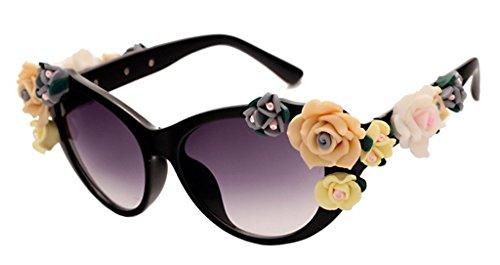 Retro Baroque Holograms Rose Sunglasses For - Hologram Sunglasses
