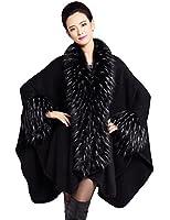 Zattcas Women's Faux Fur Shawl Pashmina Cape Cloak Coat-Ship from US