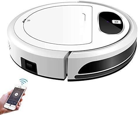 FENGTING W Neato Robotics, WiFi App, Gyroscope 2D Carte de Navigation, Commande électrique Pompe à air Réservoir d\'eau, Nettoyage à Sec Humide