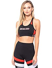 9acebde23c9d5e Layla Sports Bra - Black Red - - Womens - Activewear - Tops -