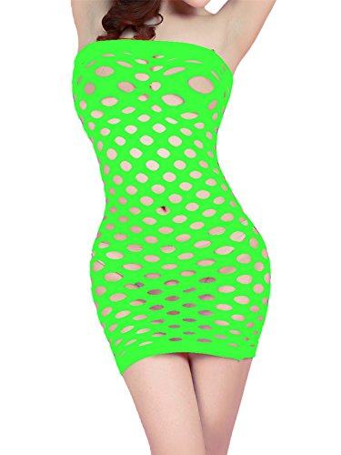 OGNEE Womens Lingerie Set Babydoll Strapless Chemise Dresses Nighties One Piece for Women Green