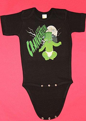 - Little Crankenstein Short Sleeve Baby Bodysuit for Halloween