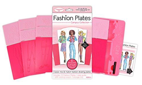 Kahootz Fashion Plates Expansion Pack - Campus (Fashion Refill Paper)