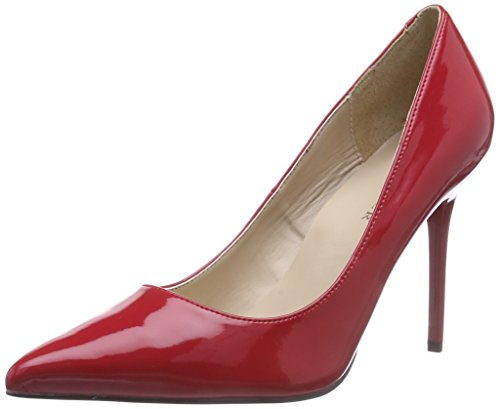 Pleaser Classique 20, Women's Closed-Toe Pumps Red (Red Pat)
