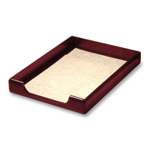 Rolodex Wood Tones Front Load Legal Tray - 8.5'' Height x 14'' Width - 1 Tier(s) - Wood - Mahogany