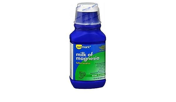 Amazon.com: Sunmark Sunmark Milk of Magnesia Mint Flavor, Mint Flavor 12 oz: Health & Personal Care