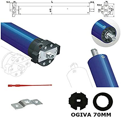 Motorizzare Tende Da Sole.Motore Motorizzazione X Tende Tenda Da Sole 100 Kg 100kg 50 Nm Con Ogiva 70 Mm D Amazon It Fai Da Te