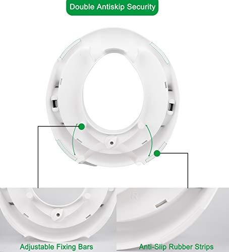WONDER CHILDS Wei/ß Kinder Toilettensitz mit Kissen Spritzschutz Ergonomischer WC Sitz Kinder Ergonomischer Anti-Rutsch-Sitz f/ür Kinder von 1 bis 7 Jahren