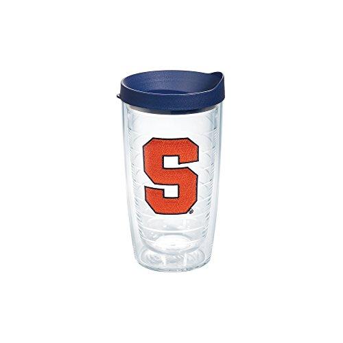 ersity Emblem Individual Tumbler with Lid, 16 oz, Clear (Syracuse Dishwasher Safe Mug)