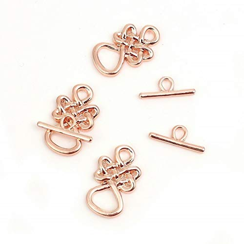 Celtic Knot Toggle Clasp Rose Gold Plated Findings 1 Sets