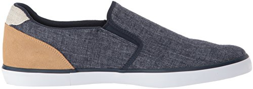 Lacoste Mens Jouer Slip On Sneaker Navy Canvas
