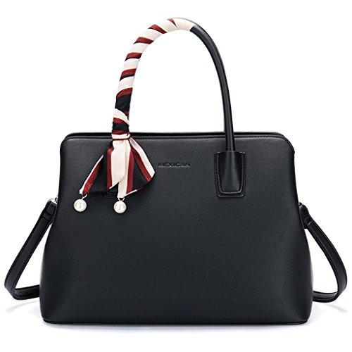 Bolso femenino del bolso del bolso femenino Bolso salvaje simple del mensajero del bolso del mensajero del hombro (Color : Brown, Tamaño : Metro) Black