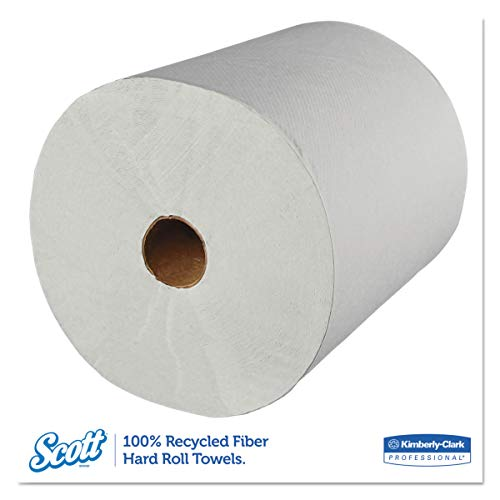 Scott 01052 Hard Roll Towels, 100% Recycled, 1.5'' Core, White, 8'' x 800ft (Case of 12 Rolls) by Scott (Image #2)