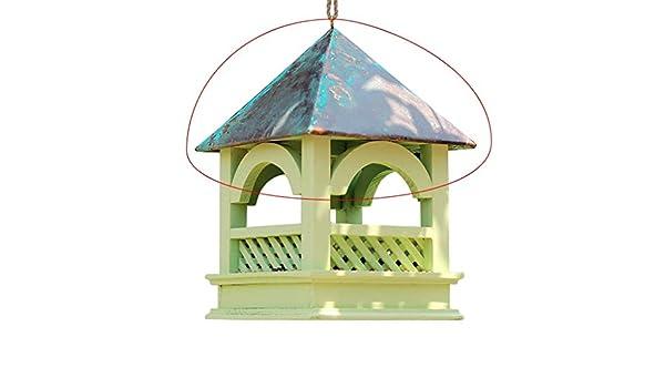 ZWMM Comedero para pájaros Taza de Comida de pájaro Colgante al Aire Libre Cubierta de Madera/Gran Capacidad a Prueba de Lluvia a Prueba de Golpes: Amazon.es: Deportes y aire libre