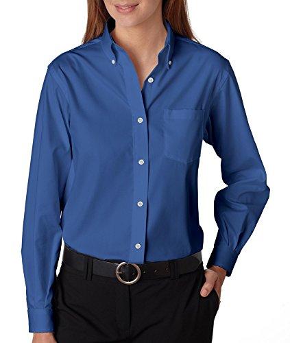 Van Heusen 13V0110 Womens Wrinkle-Resistant Oxford - Corporate Blue - 2XL
