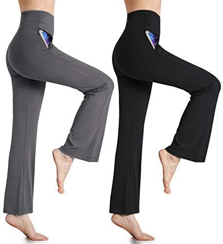 a0b7a58f48497 MILANKERR Womens Lounge Pants High Waist Comfy Casual Pajama Pants Palazzo  Boot-Cut Wild Leg