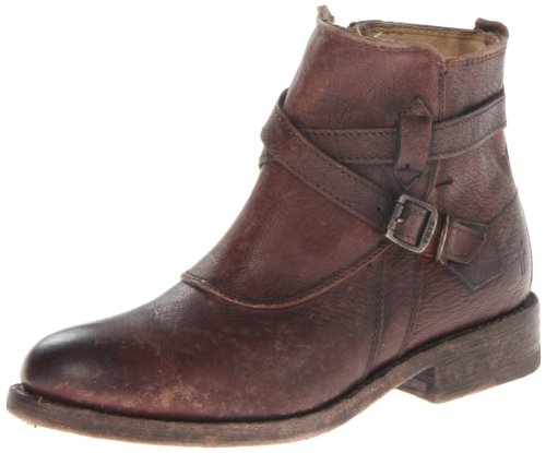 FRYE Womens Jayden Cross Strap Motorcycle Boot Dark Brown-76785 ICmtSTwEx8