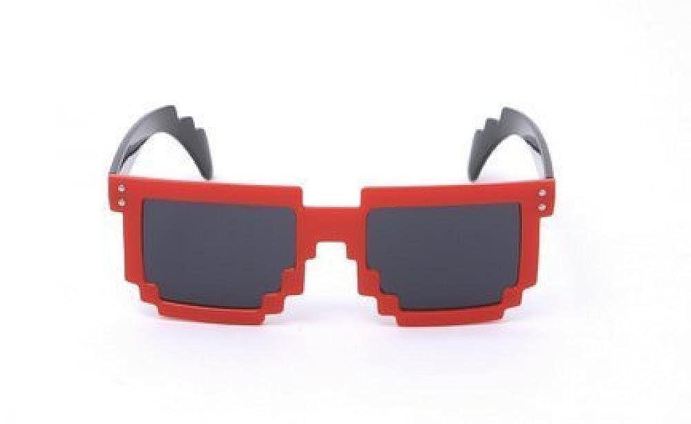 Block 8-bit Pixel Sunglasses Video Game Geek Party Favors MJ Boutique 9289n-blue